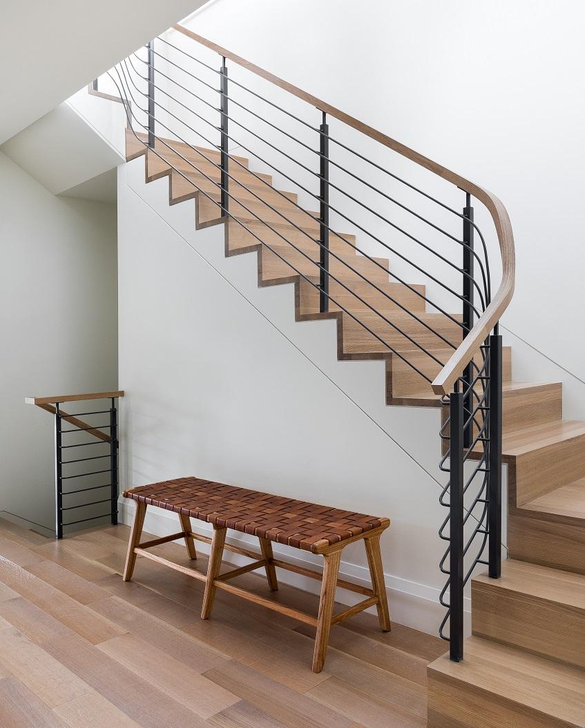 mw design workshop custom hand rail staircase