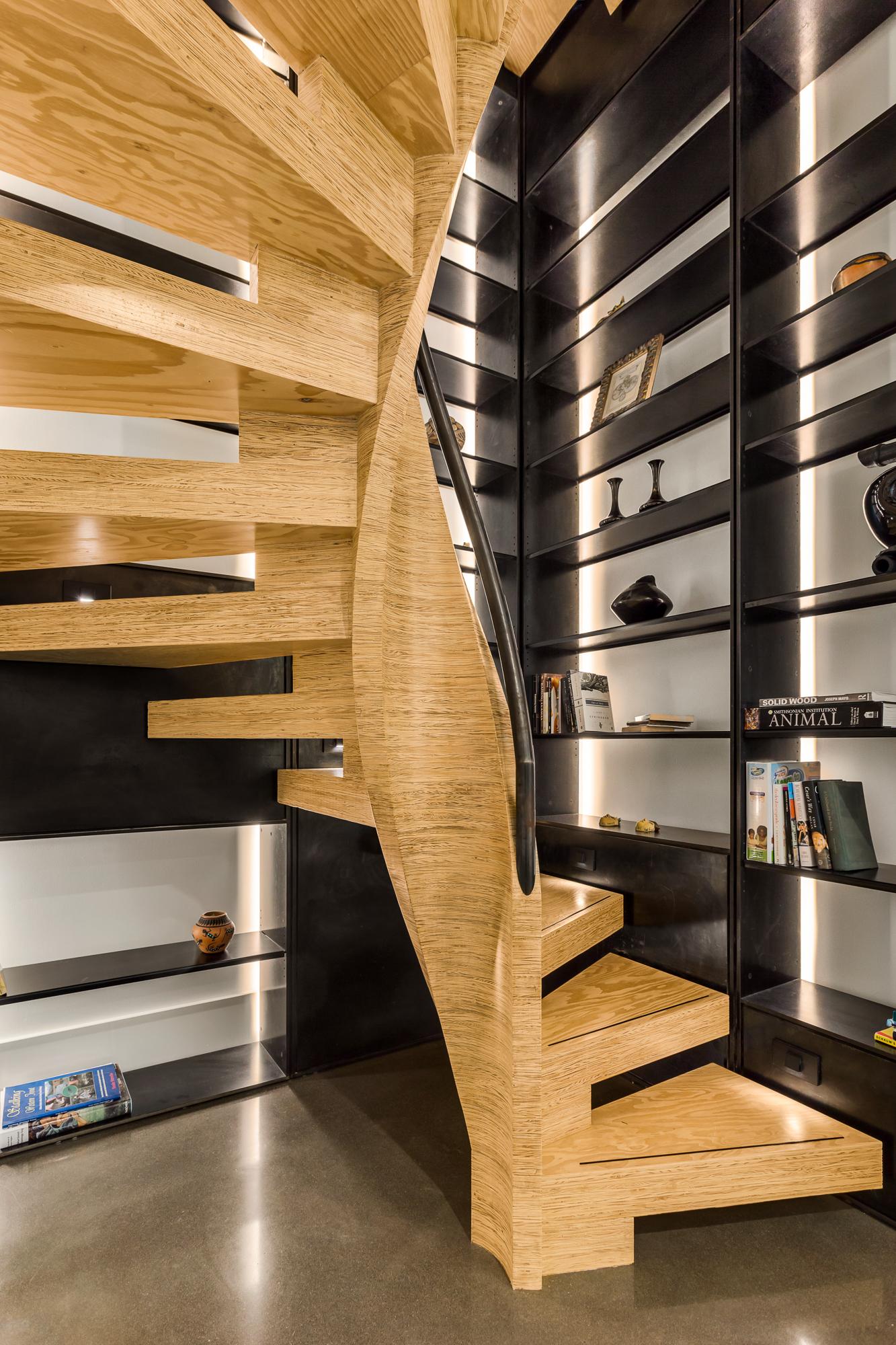 mw design workshop spiral staircase MPP plywood CNC