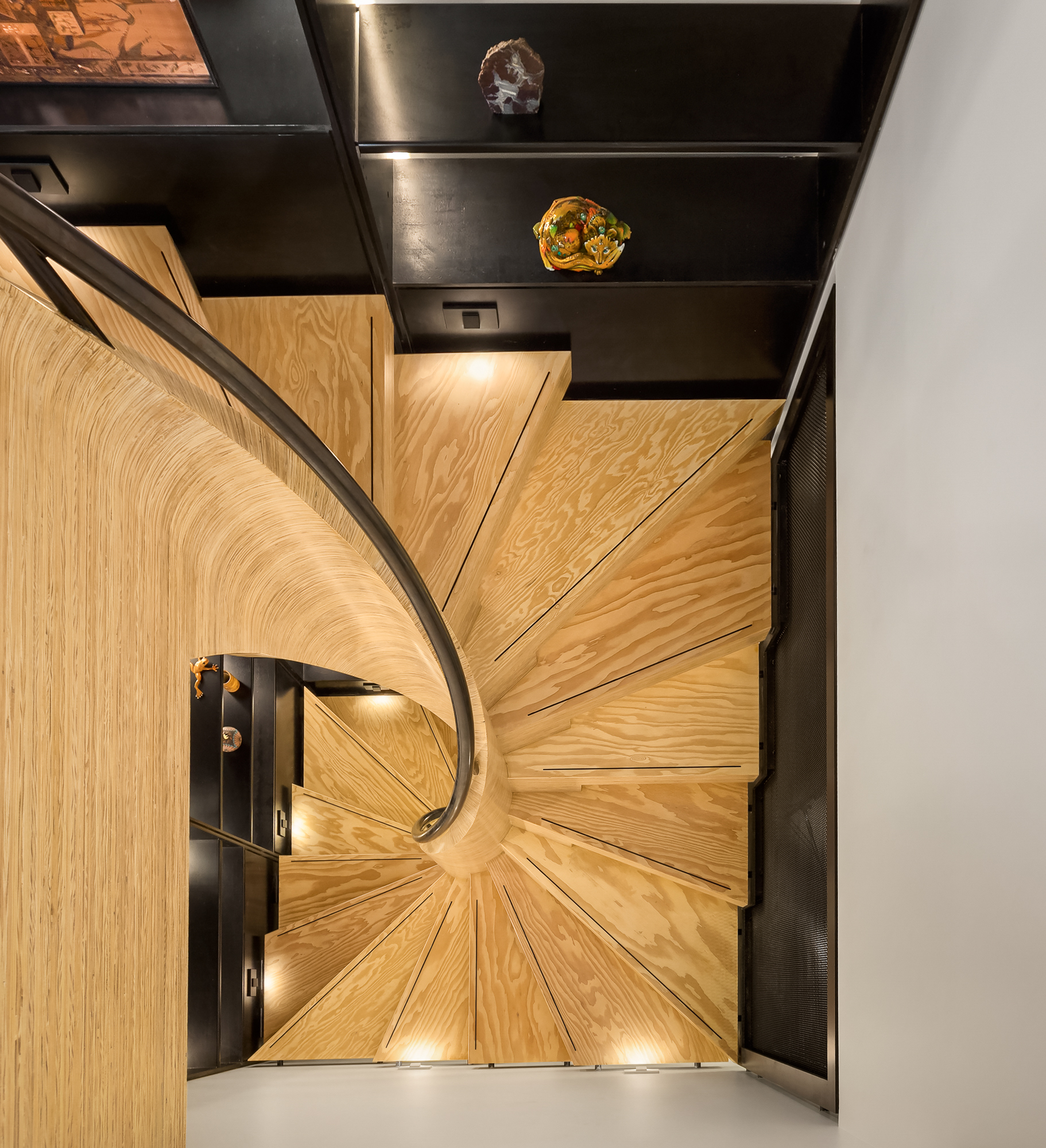 mw design workshop spiral staircase MPP plywood CNC