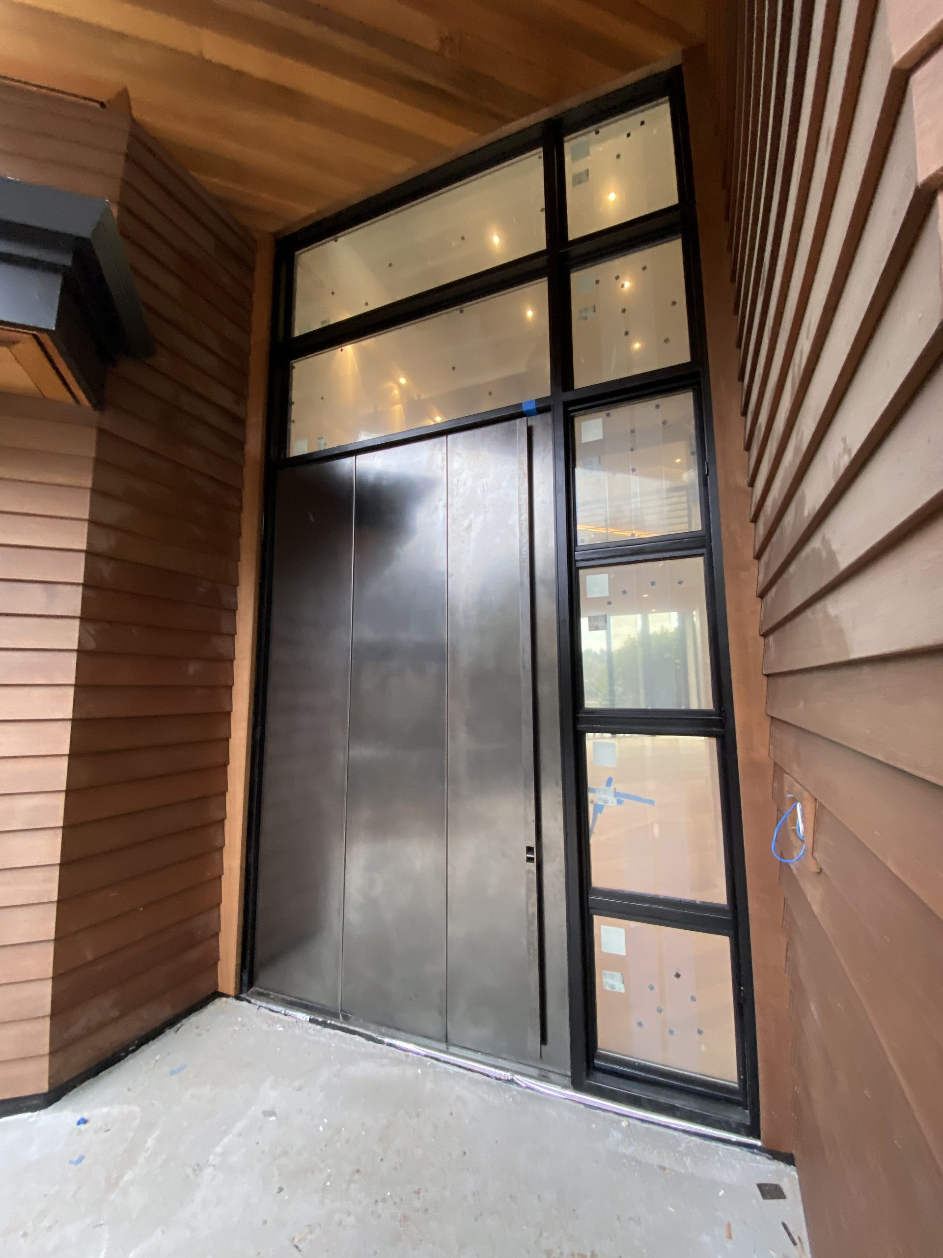 mw design workshop custom entry door cladded