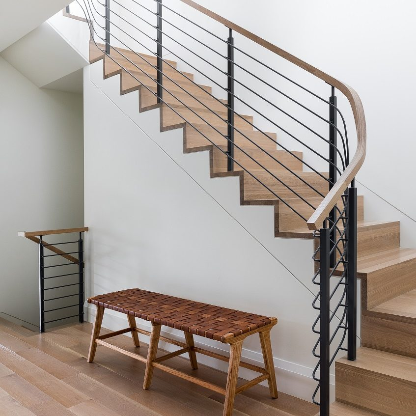 mw design workshop custom hand rail staircase